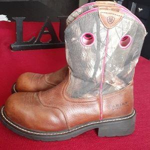 Ariat steel toe booties.